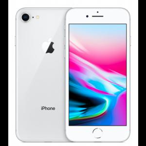 Apple iPhone 8 (UNLOCKED)-Silver-64GB-Grade C